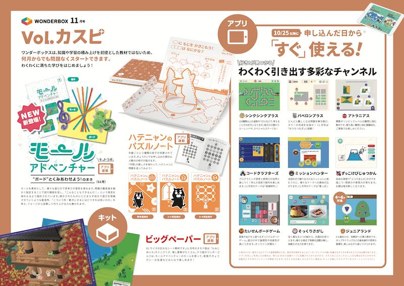 ワンダーボックス11月号Vol.カスピ