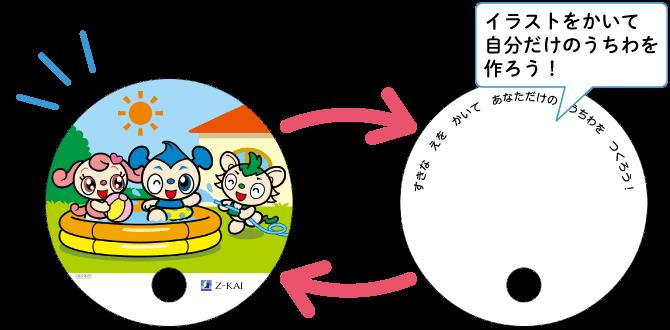 z会幼児コースキャンペーンでもらえる『おえかきうちわ』